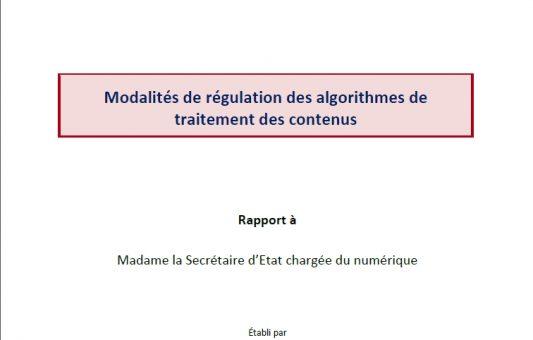 Modalités de régulation des algorithmes de traitement des contenus