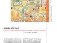 GRANDS CONTRATS : QUELLE OUVERTURE DES MARCHÉS PUBLICS INTERNATIONAUX ?